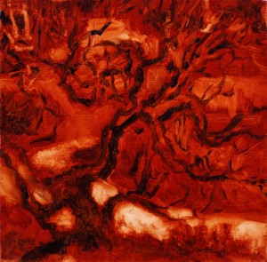 Tree Chama River - Oil on Canvas - 10 x 10 in